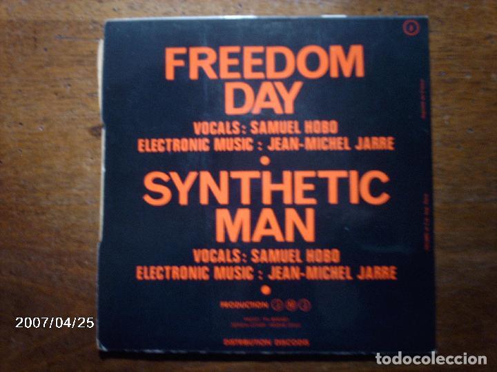 Discos de vinilo: samuel hobo - jean michel jarre - freedom day + synthetic man - Foto 2 - 72929087