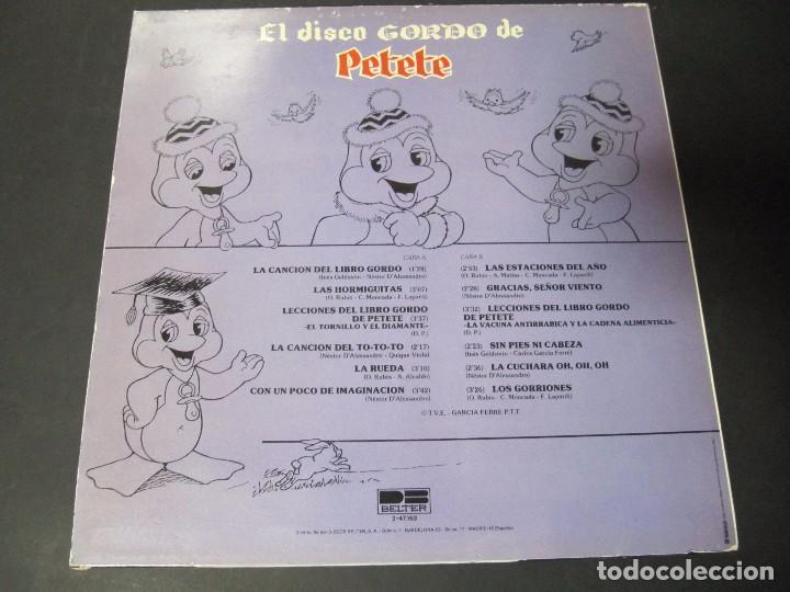 Discos de vinilo: EL DISCO GORDO DE PETETE - Foto 2 - 72935207