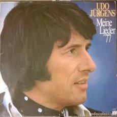 Discos de vinilo: UDO JÜRGENS-MEINE LIEDER '77 , ARIOLA-28 650 IT. Lote 72955079