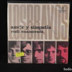 Discos de vinilo: LOS BRAVOS - AMOR Y SIMPATIA / RUDI ENAMORADO - SINGLE. Lote 72995711