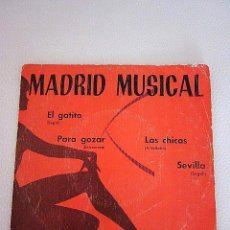 Discos de vinilo: MADRID MUSICAL. CALANDRIA 1973. DISCO PROMO DE MADRID MUSICAL. EP. EL GATITO (SEGALI).. Lote 73000843