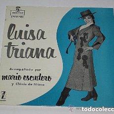 Discos de vinilo: LUISA TRIANA EP ACOMPAÑADA POR MARIO ESCUDERO Y CHINÍN DE TRIANA 1961. Lote 73001543