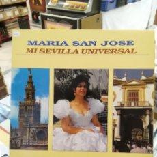 Discos de vinilo: MARÍA SAN JOSÉ - MI SEVILLA UNIVERSAL - SEVILLANAS - LP. . Lote 73003031