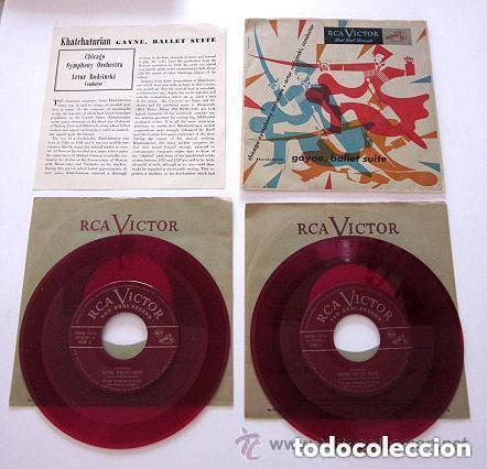 KHATCHATURIAN GAYNE, BALLET SUITE. RCA VICTOR. 2 VINILOS DE COLOR ROJO. MADE IN USA. (Música - Discos de Vinilo - EPs - Orquestas)