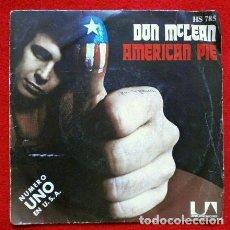 Discos de vinilo: DON MCLEAN (EP. 1972) AMERICAN PIE - PARTE 1 Y 2. Lote 73015855