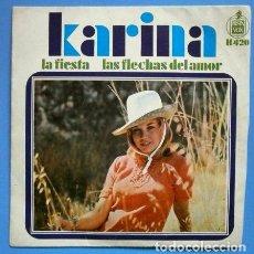 Discos de vinilo: KARINA (EP. 1968) LA FIESTA - LAS FLECHAS DEL AMOR (EN BUEN ESTADO) J. Lote 73016135