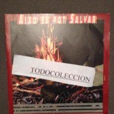 Discos de vinilo: SAU: AIXO ES POT SALVAR, SG PROMO EMI 1992 ROCK CATALA. Lote 73025387