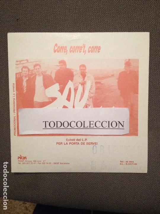 SAU: CORRE, CORRE'T, CORRE SG PROMO PICAP 1989 ROCK CATALA (Música - Discos - Singles Vinilo - Grupos Españoles de los 90 a la actualidad)