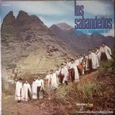 Discos de vinilo: LOS SABANDEÑOS-ANTOLOGÍA DEL FOLKLORE CANARIO , COLUMBIA-CPS 9079. Lote 73035355