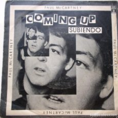 Discos de vinilo: PAUL MCCARTNEY ''COMING UP'' DEL AÑO 1980 SINGLE DE 2 CANCIONES. Lote 73050963