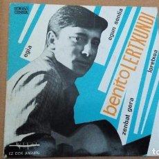 Discos de vinilo: BENITO LERTXUNDI  EGIA EP 1967 CON LETRAS. Lote 73059535