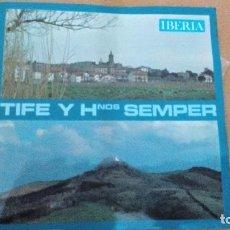Discos de vinilo: TIFE Y HNOS SEMPER FUENTERRABIA ALBORADA EN EL DIA DE SAN MARCIAL EP LIBRO VINILO. Lote 73060011