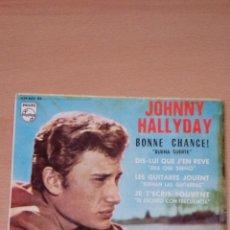 Discos de vinilo: JOHNNY HALLYDAY - BONNE CHANCE - PHILIPS - EDICION ESPAÑOLA - BUEN ESTADO. Lote 73072815