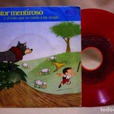 Discos de vinilo: DISCO, VINILO, SINGLE, EL PASTOR MENTIROSO, Y EL LOBO QUE SE COMIA A LAS OVEJAS, SN-45.062. Lote 73087199