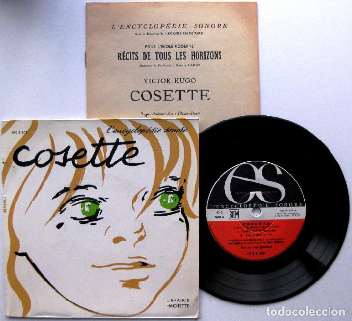 VICTOR HUGO - COSETTE (MISERABLES) - EP L'ENCYCLOPÉDIE SONORE 1966 FRANCIA FRANCÉS BPY (Música - Discos de Vinilo - EPs - Otros estilos)