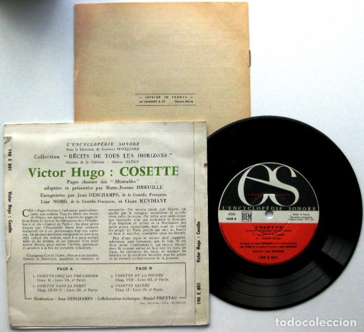 Discos de vinilo: Victor Hugo - Cosette (Miserables) - EP LEncyclopédie Sonore 1966 Francia Francés BPY - Foto 2 - 73265607