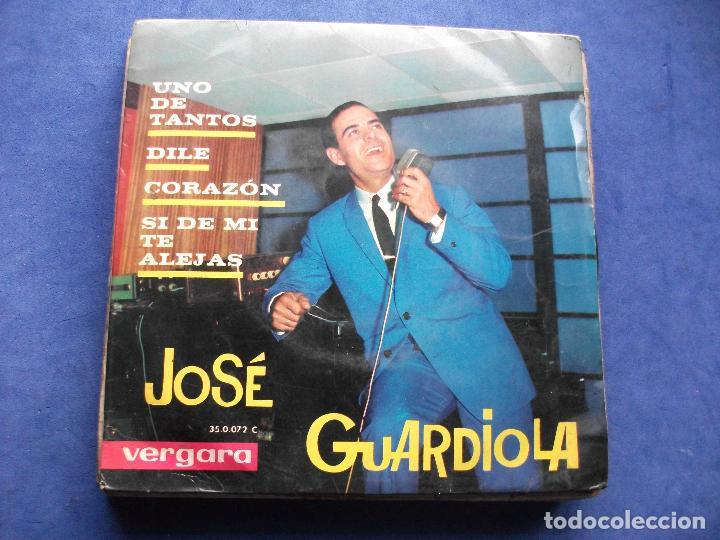 JOSE GUARDIOLA - UNO DE TANTOS + 3 - EP VERGARA (Música - Discos de Vinilo - EPs - Solistas Españoles de los 70 a la actualidad)