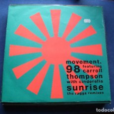 Discos de vinilo: MOVEMENT 98 SUNRISE MAXI GERMANY 1990 PDELUXE. Lote 73416335