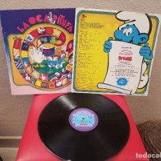 Discos de vinilo: ANTIGUO LP DISCO DE VINILO EL GRAN LIBRO DE LOS JUEGOS PITUFOS DISCOS COLUMBIA 1980 JUEGO OCA..... Lote 73417331