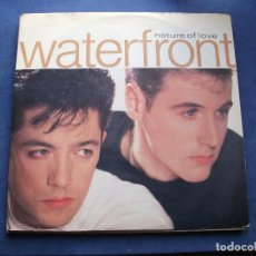 Discos de vinilo: WATERFRONT NATURE OF LOVE MAXI GERMANY 1988 PDELUXE. Lote 73417523