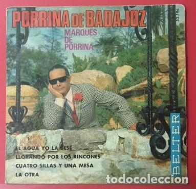 PORRINA DE BADAJOZ - GUITARRA: MANOLO SANLÚCAR - 1970 (Música - Discos de Vinilo - EPs - Flamenco, Canción española y Cuplé)