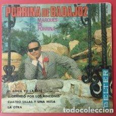 Discos de vinilo: PORRINA DE BADAJOZ - GUITARRA: MANOLO SANLÚCAR - 1970. Lote 73422551