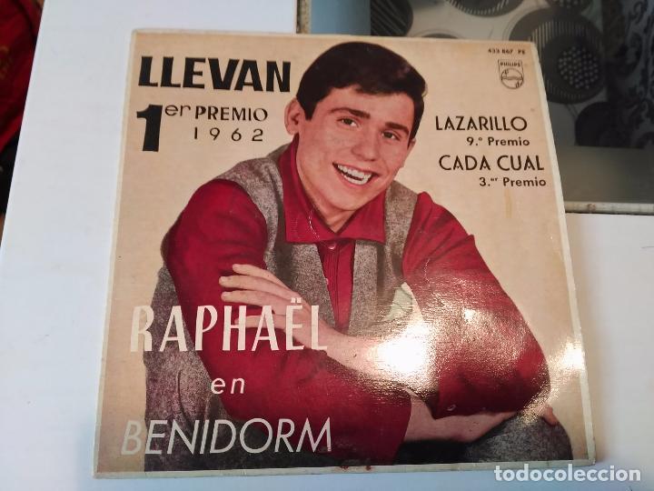 RAPHAEL EN BENIDORM. LLEVAN;LARAZILLO;CADA CUAL;INMENSIDAD RF-8638 (Música - Discos - Singles Vinilo - Solistas Españoles de los 50 y 60)