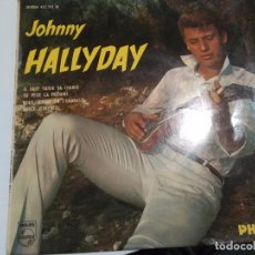 Discos de vinilo: EP 45 RPM / JOHNNY HALLYDAY / HIGH SCHOOL CONFIDENTIAL/ YOU CAN HAVE HER/ IL FAUT SAISIR SA CHANCE/ . Lote 73425855