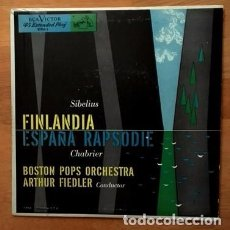 Discos de vinilo: SIBELIUS, FINLANDIA - CHABRIER, ESPAÑA RAPSODIE. Lote 73428051