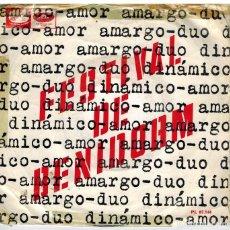 Discos de vinilo: SINGLE - DUO DINAMICO- FESTIVAL DE BINIDOR- AMOR AMARGO - AÑO 1966. Lote 73449959