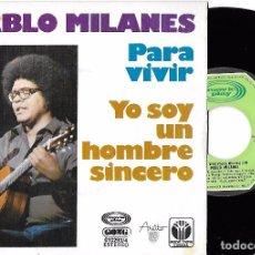 Discos de vinil: PABLO MILANÉS: PARA VIVIR / YO SOY UN HOMBRE SINCERO. Lote 73450647