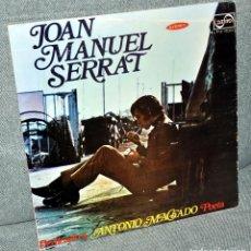 Discos de vinilo: JOAN MANUEL SERRAT - LP VINILO 12'' - EDITADO EN VENEZUELA - DEDICADO A ANTONIO MACHADO POETA. Lote 73455775
