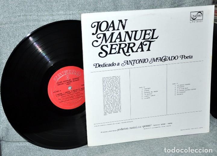 Discos de vinilo: JOAN MANUEL SERRAT - LP VINILO 12 - Editado en VENEZUELA - DEDICADO A ANTONIO MACHADO POETA - Foto 2 - 73455775