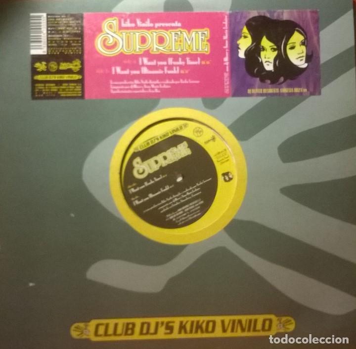 SUPREME-I WANT YOU, KIDESOL RECORDS-KDS 025 (Música - Discos de Vinilo - Maxi Singles - Electrónica, Avantgarde y Experimental)