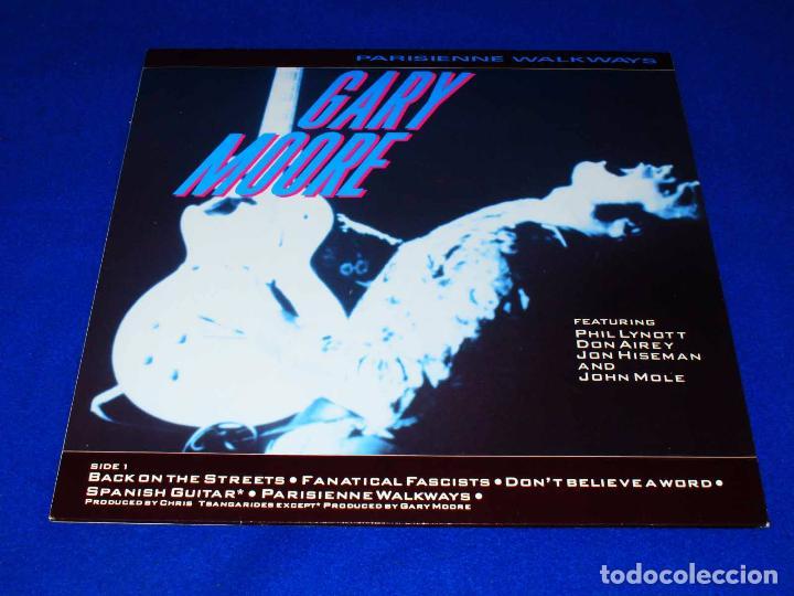 Discos de vinilo: GARY MOORE PARISIENNE WALKAWAYS - LP MCA RECORDS 1987 GERMANY - - Foto 3 - 73492743