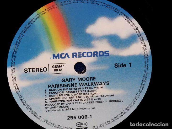Discos de vinilo: GARY MOORE PARISIENNE WALKAWAYS - LP MCA RECORDS 1987 GERMANY - - Foto 4 - 73492743