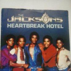Discos de vinilo: MICHAEL JACKSON JACKSONS HEARTBREAK HOTEL SINGLE VINILO GRAN BRETAÑA. Lote 73549823