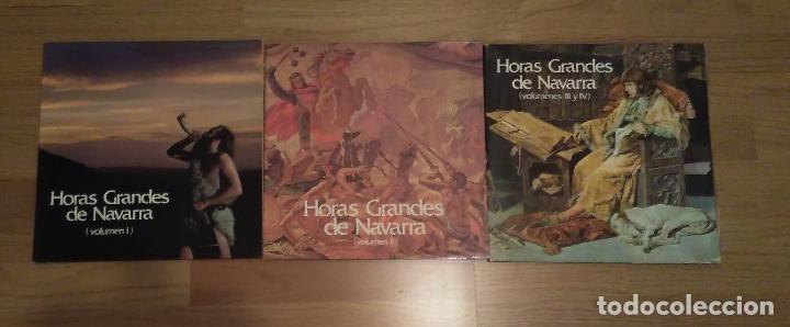 Discos de vinilo: HORAS GRANDES DE NAVARRA, VOLUMENES I, II, III Y IV,COMPLETO - Foto 2 - 73574571