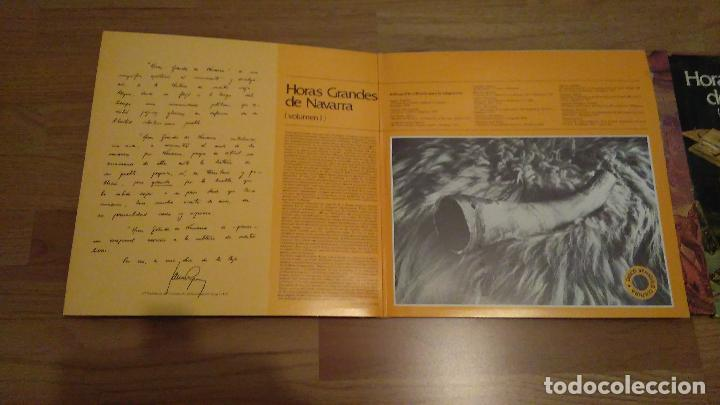 Discos de vinilo: HORAS GRANDES DE NAVARRA, VOLUMENES I, II, III Y IV,COMPLETO - Foto 3 - 73574571