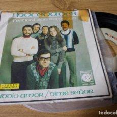 Discos de vinilo: MOCEDADES. FESTIVAL SAN REMO 1973. ADDIO AMOR. DIME SEÑOR.. Lote 73581867