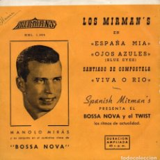 Discos de vinilo: MANOLO MIRÁS, SU ACORDEÓN Y SUS MIRMAN´S, EP, ESPAÑA MIA + 3, AÑO 1960. Lote 73629859