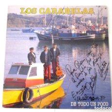Discos de vinilo: LOS CARABELAS. FIRMADO Y DEDICADO POR TODOS SUS COMPONENTES. LP, DE TODO UN POCO. 1987. Lote 73630875