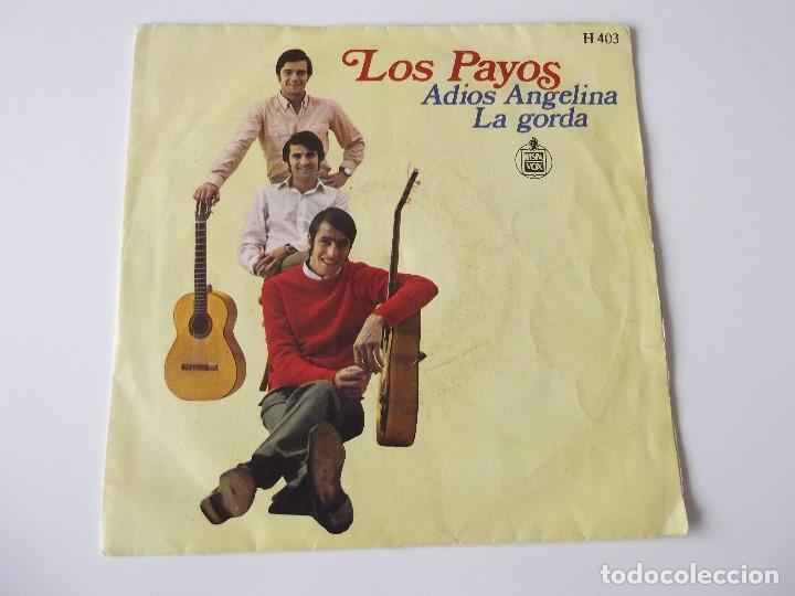 LOS PAYOS - ADIÓS ANGELINA (Música - Discos - Singles Vinilo - Grupos Españoles de los 70 y 80)
