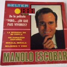 Discos de vinilo: MANOLO ESCOBAR - LA MORENA DE MI COPLA. Lote 73640763