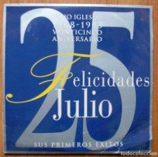 Discos de vinilo: JULIO IGLESIAS - FELICIDADES JULIO - DISCO DOBLE. Lote 73660443
