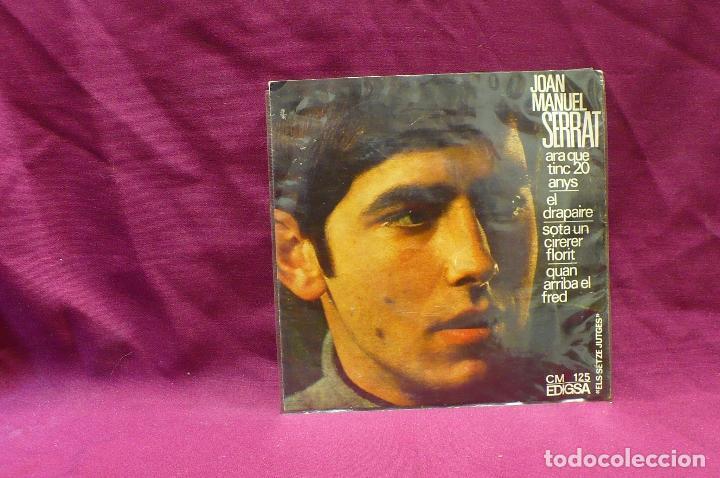SERRAT,ELS SETZE JUTGES,QUAN ARRIBA EL FRED,SOTA UN CIRERER FLORIT,EL DRAPAIRE ARA QUE TINC 20, 1966 (Música - Discos de Vinilo - EPs - Solistas Españoles de los 70 a la actualidad)