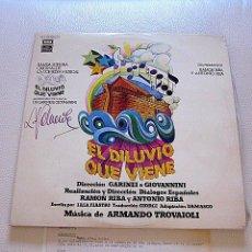 Discos de vinilo: DOBLE LP EL DILUVIO QUE VIENE 1977. FIRMADO Y CON DOCUMENTACIÓN LETRAS CORREGIDAS A MANO. . Lote 73769315
