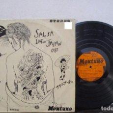 Discos de vinilo: SALIO EL SON SALSA LIVE JAPAN 1987 MONTUNO ROBERTO ROENA GRAN COMBO NACHO MELAO Y+ T83 G+ MUY ESCASO. Lote 73785847