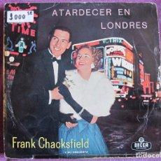 Discos de vinilo: LP - FRANK CHACKSFIELD Y SU ORQUESTA - ATARDECER EN LONDRES (SPAIN, DECCA 1961). Lote 73802107