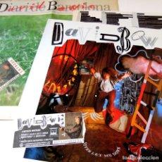 Dischi in vinile: LOTE LP + ENTRADA + REVISTA DAVID BOWIE – NEVER LET ME DOWN - SPAIN 1987 - EMI AMERICA 074 2407461. Lote 73814943
